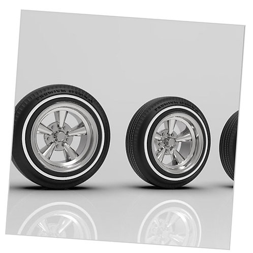 "1:12 Supremes 14"" Wheels with White Wall Tires for Radio Shack Impala"