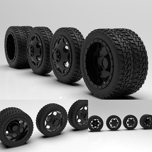 """1:25 Brigade 22"""" dually setup with Terrain tires available Black"""