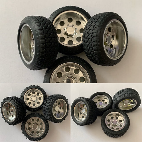 "1:25 ""Boss"" Wheels with Tires"