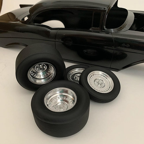"1:64 ""Draglites"" Wheels and Dragster Tires"