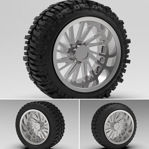 "1:25 26"" ""Brute"" Forged wheels with tire set to choose from"