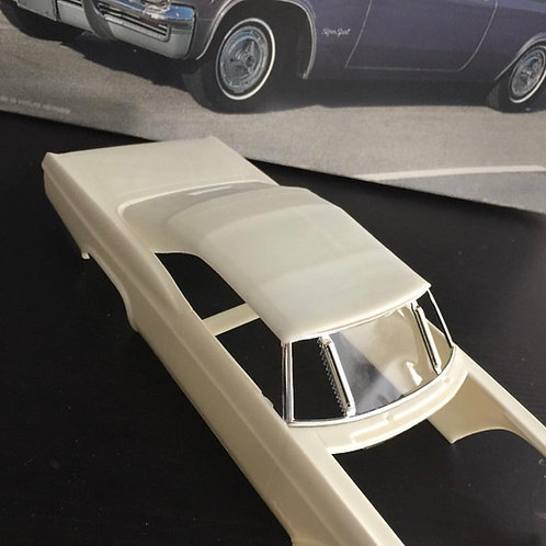 "1:25 65 Chevy Revell Monogram ""G"" window uptop"