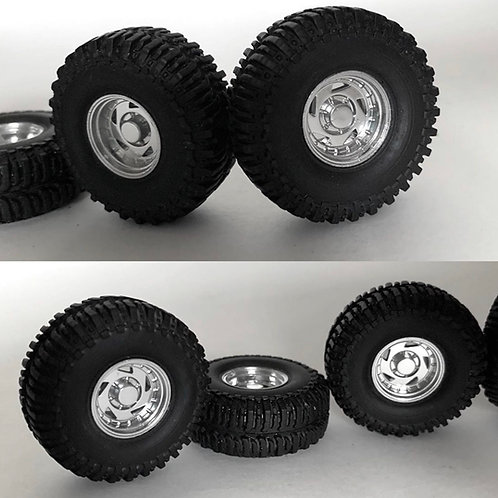 "1:25 ""Sawblade"" Wheels and Tires"