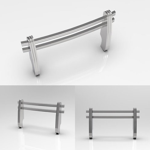 1:12 Chromed Chevy Truck Front Bumper Guard