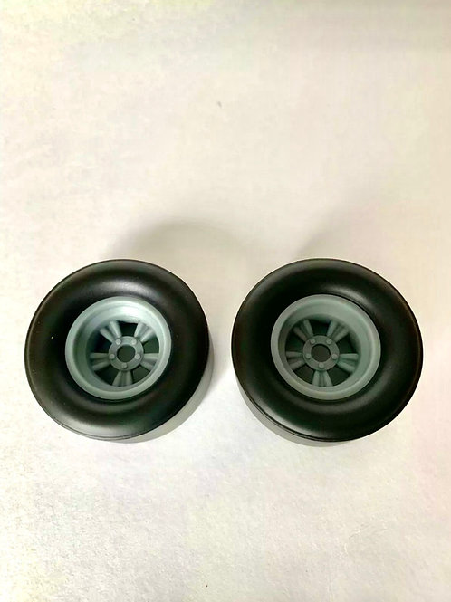 "1:18  ""Bear Paw""  Vintage Dragster  Rear Wheels"