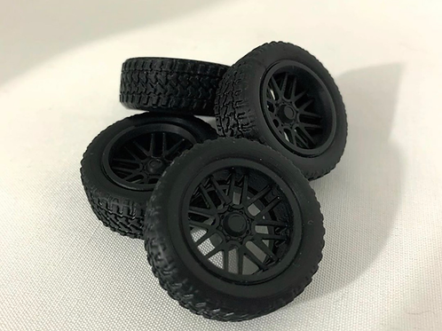"""1:25 20"""" Concave"""" Wheels and Tires"""