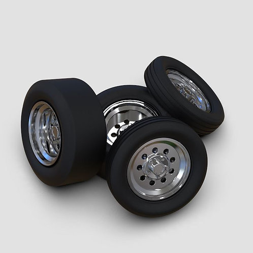 "1:16 15"" Draglites skinny and wide tires"