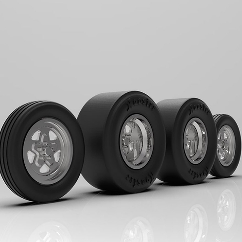 1:16 Weld Prostar Wheels  with Tires