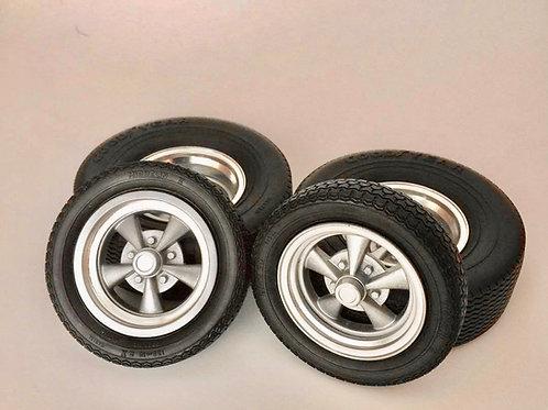 1:10 Five Spoke Drag Racing Wheels on Slicks