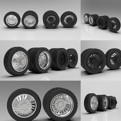 "1:64 ""Rocket"" Forged Dually Wheels with Tires"