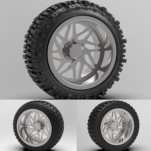"1:25 26"" ""Origin""  Standard Forged wheels with a tire choice set up"