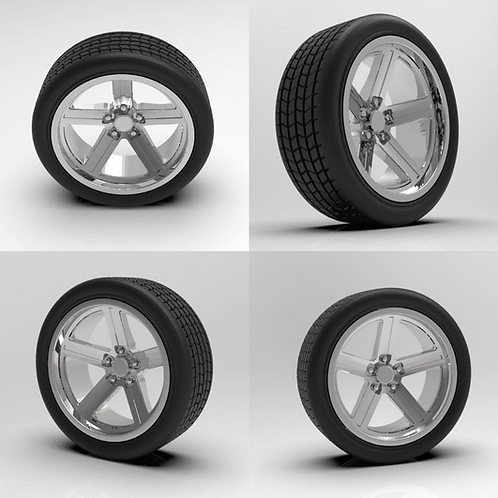"1:64 17"" IROC Wheels with Tires"