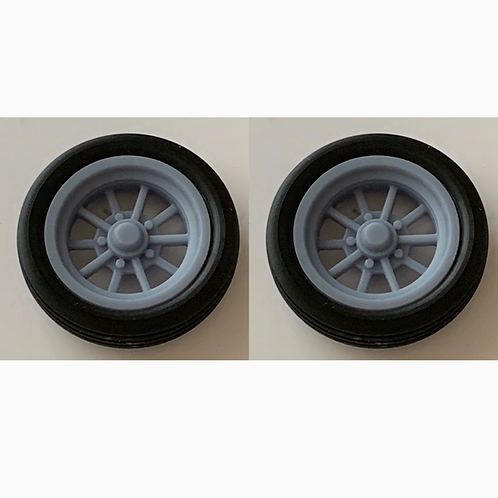 1:16 Gasser 10 Spoke Front Wheel and Tire Setup