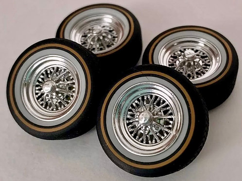 1:24 Crager Starwire Deep dish wheel and tires