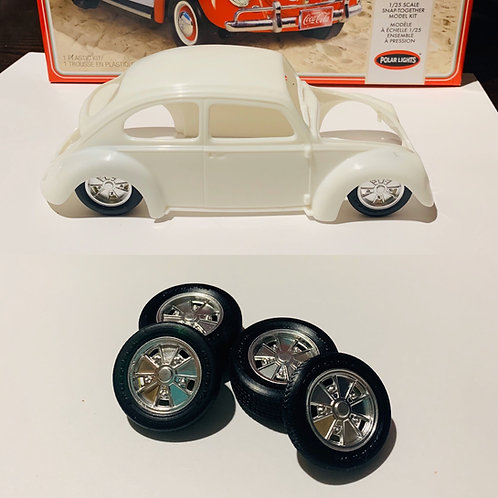 "1:25 ""BRM"" Wheels 4.5 X 5.5 Wheels And Tires Set"