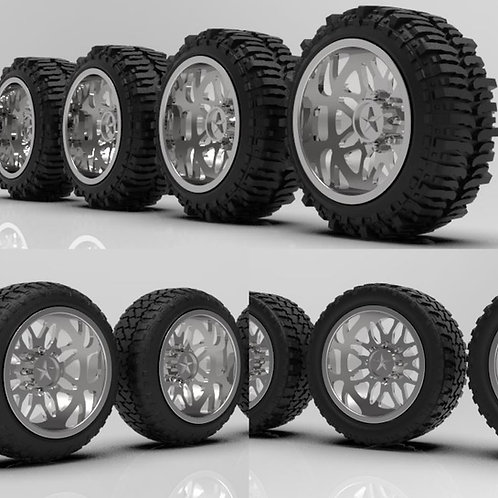 """1:24 26 inch """"Traxes"""" Set (Bogger,Stretch Standard )"""