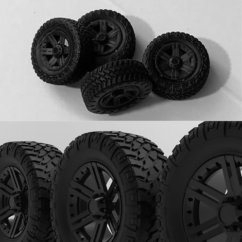 "1:64 20"" ""Vertex"" Wheels and 35 inch Tires"