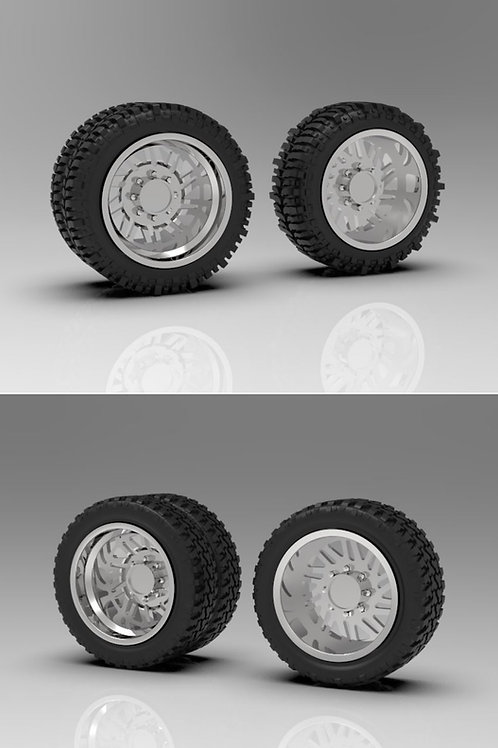 """1:24 26"""" """"Force"""" Forged Dually wheels with """"Bogger"""" or """"Standard"""" tires"""