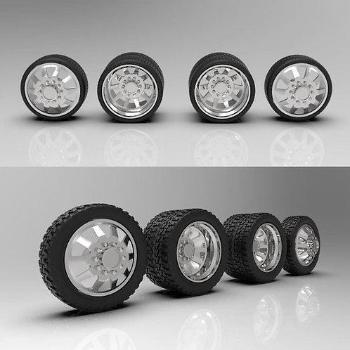 "1:64 ""Razor"" Dually Wheel and Tire Setup (26"" or 22"")"