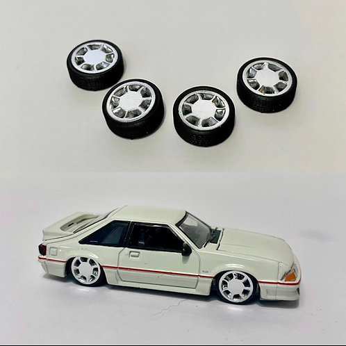 1:64 factory 93 Ford Mustang Cobra wheels
