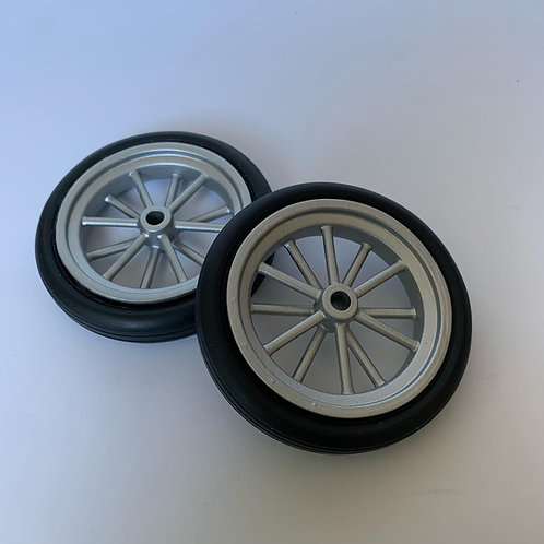 1:8 12 Spoke Spindle Mount  Front Wheel and Rubber Tire Setup