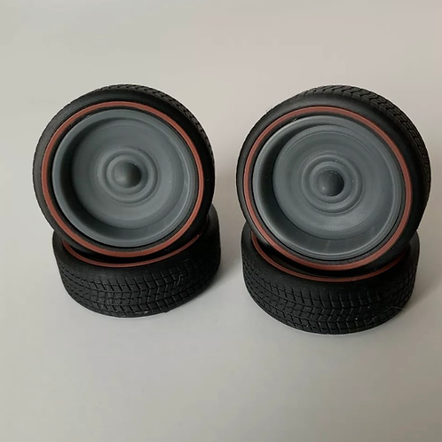 "1:16 3d Printed 20"" Redline Tires On Steel Smoothies"