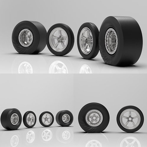 1:18 Weld Star Dragsters with Wrinkled or Non-Wrinkled Tires
