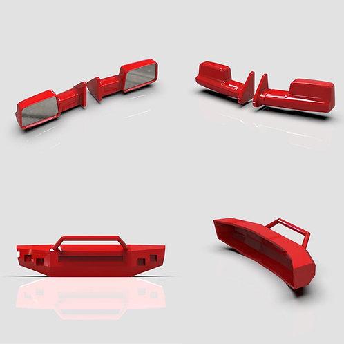 1:64  Dodge Ram Bumper and Mirrors