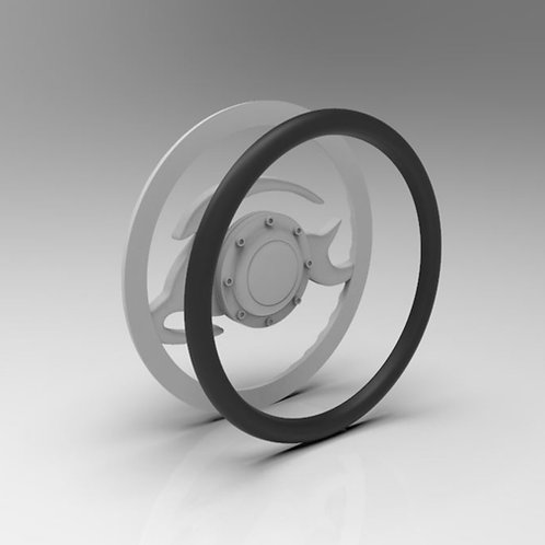 1:10 Tow Piece Steering wheel (Raw)