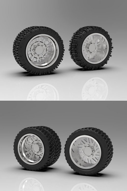 """1:64 26"""" """"Force"""" Forged Dually wheels with tire choice """"Bogger"""" or """"Standard"""""""