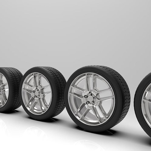 "1:25 19"" BOSS 302S Wheels with tires"