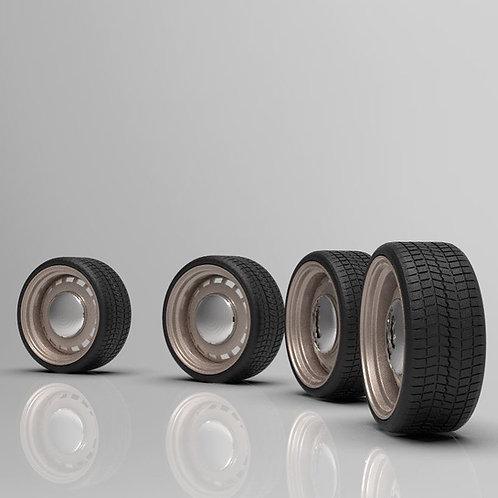 1:64 20 inch Steel Slot with Low Profile Tires