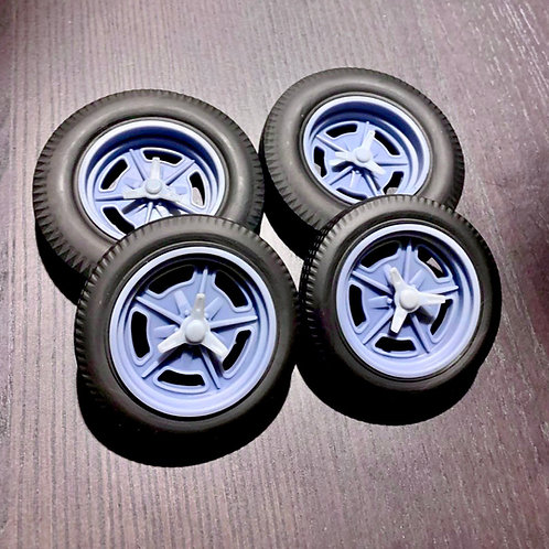 "1:8 17"" Speedway Wheels and Tires.  Big and little Coker tires"