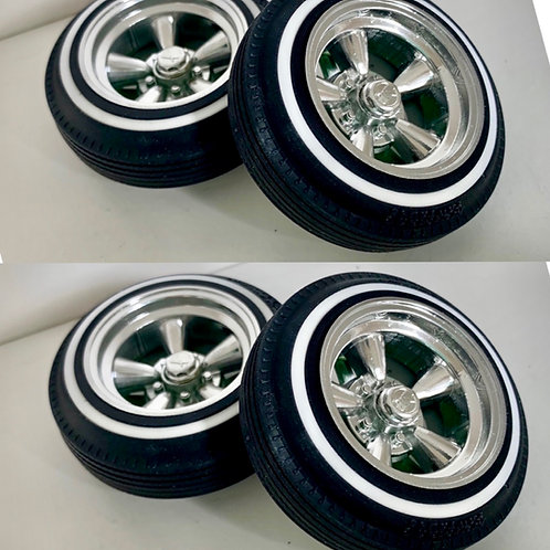 1:10 Five Spoke Deep Dish  Supremes Wheel and Tire Setup