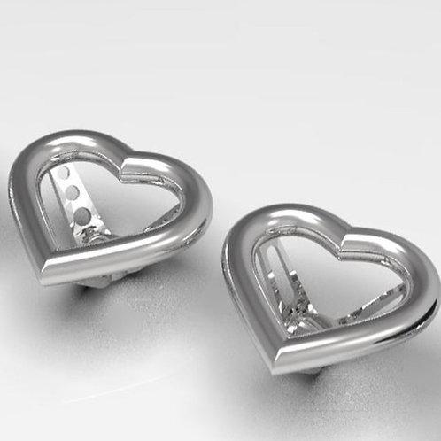 1:10 Heart Shape 3 Spoke Steering Wheel (Holes/Slot Option)