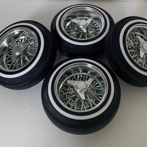 "For Radio Shack Impala: True Spoke 13""s Wheels with 3 prong knock offs on 520's"
