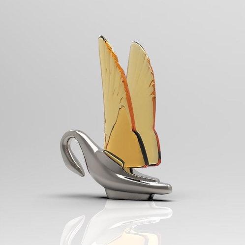 1:25 Chromed Swan Ornament (set of 2)