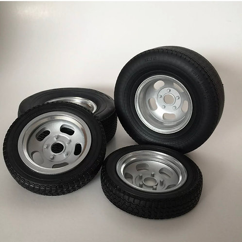 "1:16 3D Printed ""Ansen"" Style Wheels With Tires"