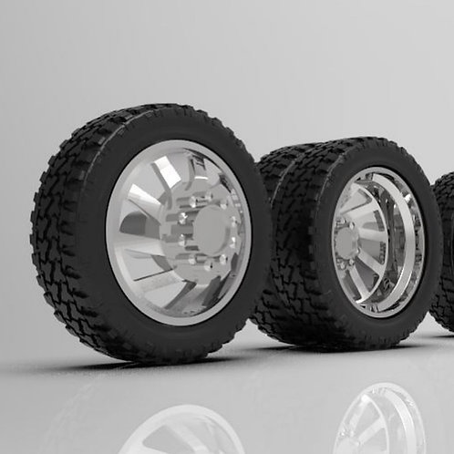"1:24 ""Cyclone"" Dually Wheels and Tires"