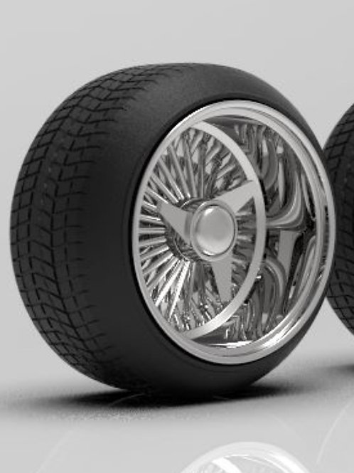 1:16 Dayton 15 inch Reverse Stretched Tires