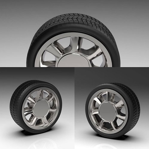 "1:25 Factory 93 Cobra wheels 17""x8.5"""