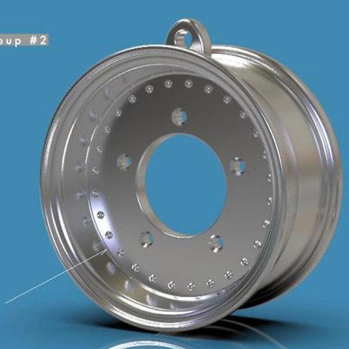 """Keychain """"Center Line"""" Style Wheel"""