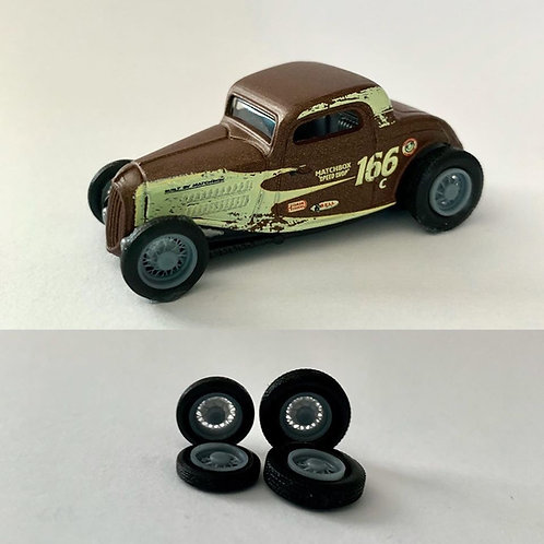 1:64 Classic Wire wheels (see through!)