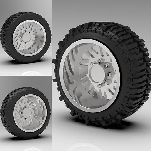 "1:24 26"" ""Force"" Forged wheels with ""Bogger"" ""Stretched"" or ""Standard"" tires"