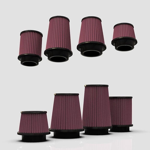 1:25 K and N style filters set of different sizes
