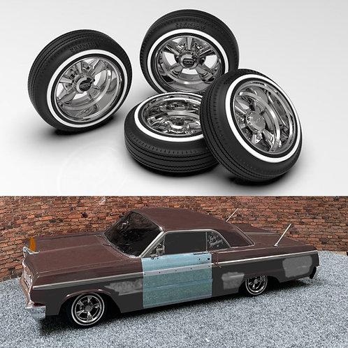 1:10 Cragar Wheels on 520's