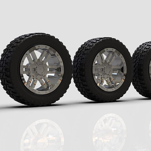"1:18 16"" Velocity wheels on 30"" tires"