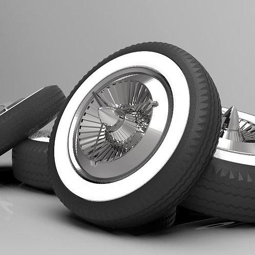 Dodge Polara Tri- Bar Caps and Tires