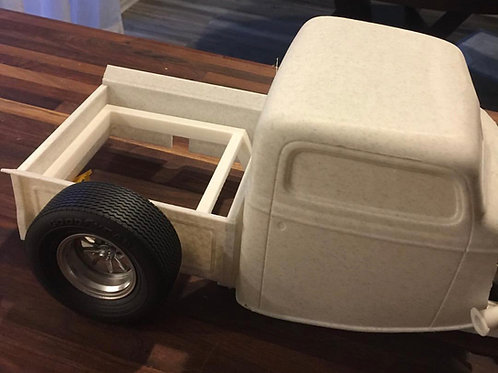 1:8 3d printed Chopped 37 Ford Truck Cab, Rear Bed, Frame, Grill/shell, Doors