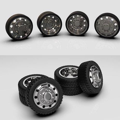 """1:64 26"""" Alcoa ten lug Dually Wheel setup"""